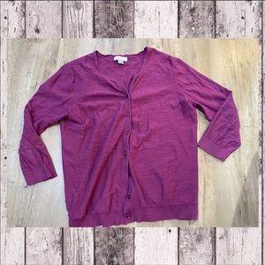 Loft | plum purple cardigan